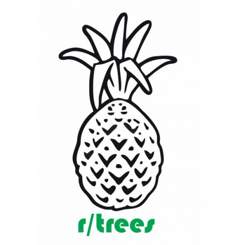 r/trees Pineapple decal