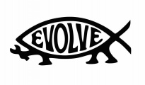 Evolve fish atheism
