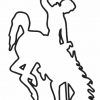Wyoming Bucking Horse (Steamboat) Outline