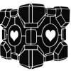 Portal Companion Cube blackout
