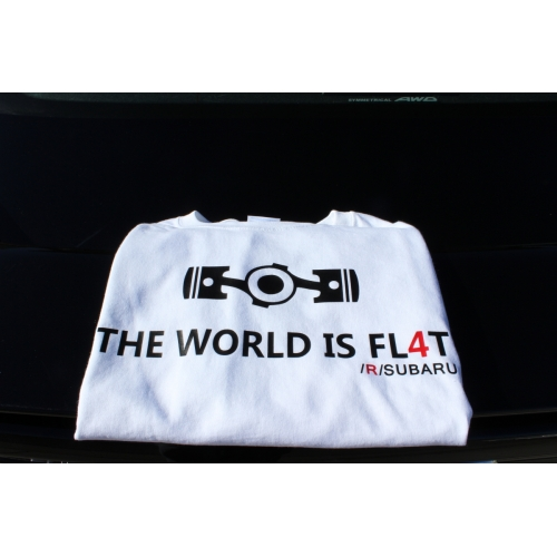 THE WORLD IS FL4T tee
