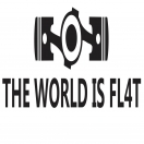 THE WORLD IS FL4T decal set