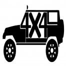 Jeep 4-Door 4×4 Decal