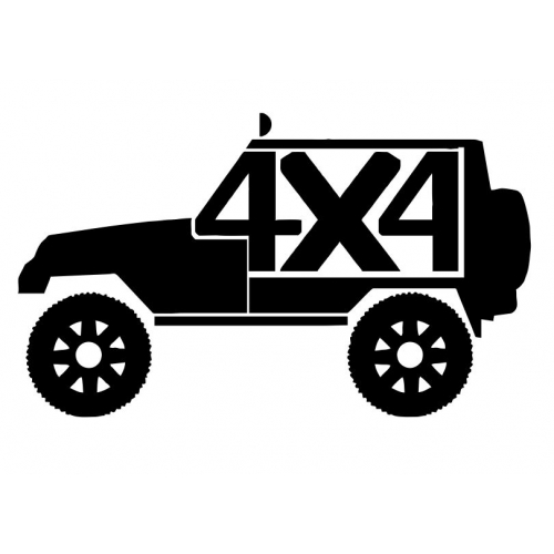 Jeep 4×4 Decal