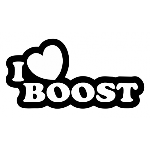 I heart Boost decal set of 3