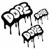 Dope decal set of 3