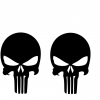 Jeep punisher decal set of 2