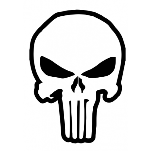Punisher outline decal set of 3