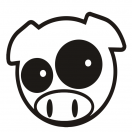 Rally pig decal set of 3