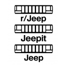 Jeepit reddit ZJ grill decal pack