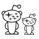Snoo-baru Decal set of 2