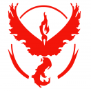 Pokémon Go Red Team Valor Decal set