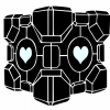 Portal 3D Companion Cube Decal Set