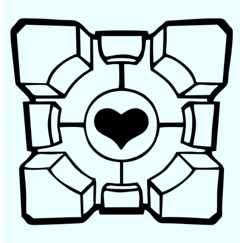 Portal Abstract Companion Cube Decal Set