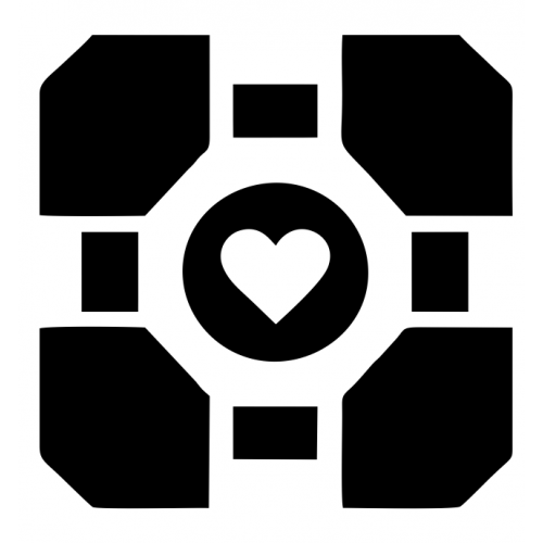 Portal Companion Cube Decal Set