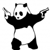 Banksy Panda with Guns Decal Set