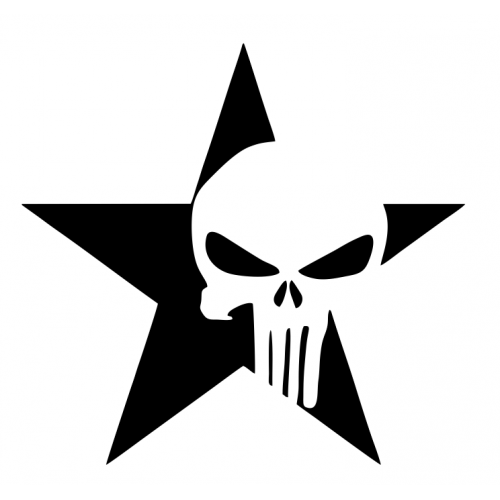 Punisher Star Decal Set