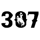 307 Wyoming Distressed Decal